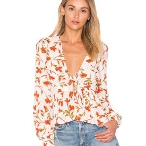 Lovers and Friends Hermosa Top Palm Print Large